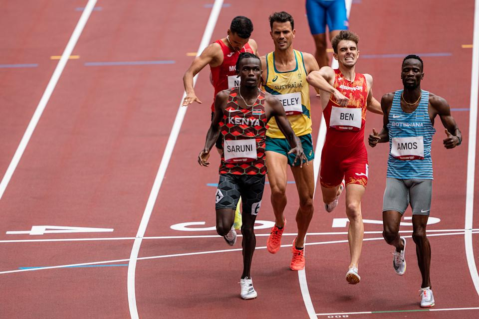 TOKYO, JAPAN - JULY 31: Adrian Ben of Team Spain in the 800m athletics qualifying heat during the 2020 Olympic Games, on July 31, 2021 in Tokyo, Japan. (Photo By SergioMateo/EuropaPress via Getty Images)