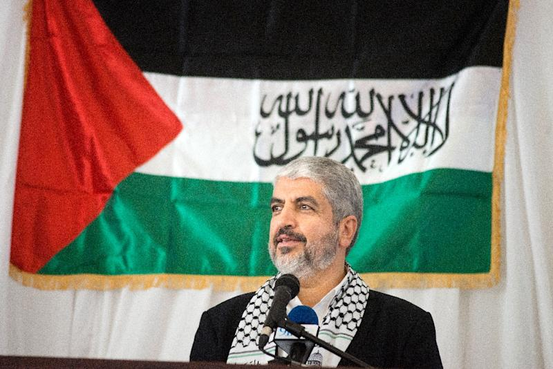 Khaled Meshaal, exiled leader of Hamas, pictured on October 21, 2015, called on all Palestinian groups to form a unified leadership of the current wave of violence against Israel