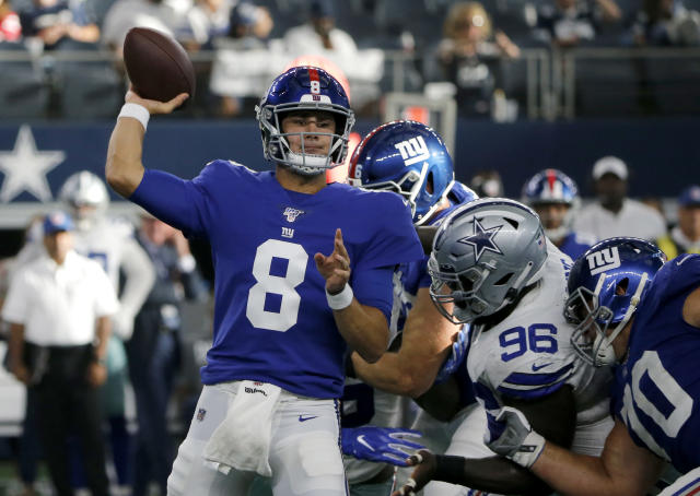 The New York Giants named rookie Daniel Jones the team's starting quarterback on Tuesday. (AP)