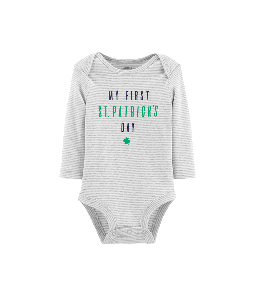 "Carter's Baby Boy ""My First St. Patrick's Day"" Striped Bodysuit (Photo: Kohl's)"