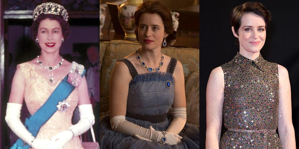 "<p>Claire Foy returned for Season 2 of <em>The Crown</em> as Queen Elizabeth II—her last, as Olivia Colman <a href=""https://www.harpersbazaar.com/culture/film-tv/a13103749/the-crown-olivia-colman-claire-foy/"" rel=""nofollow noopener"" target=""_blank"" data-ylk=""slk:took on the role"" class=""link rapid-noclick-resp"">took on the role</a> for Seasons 3 and 4. Can't get enough of Foy? Watch her as Anne Boleyn in <em><a href=""https://www.amazon.com/Wolf-Hall-Season-One/dp/B00V324G1S?tag=syn-yahoo-20&ascsubtag=%5Bartid%7C10056.g.7996%5Bsrc%7Cyahoo-us"" rel=""nofollow noopener"" target=""_blank"" data-ylk=""slk:Wolf Hall"" class=""link rapid-noclick-resp"">Wolf Hall</a></em> or Diana Cavendish in <em><a href=""https://www.amazon.com/Breathe-Andrew-Garfield/dp/B076C6CSH3?tag=syn-yahoo-20&ascsubtag=%5Bartid%7C10056.g.7996%5Bsrc%7Cyahoo-us"" rel=""nofollow noopener"" target=""_blank"" data-ylk=""slk:Breathe"" class=""link rapid-noclick-resp"">Breathe</a></em>. </p>"