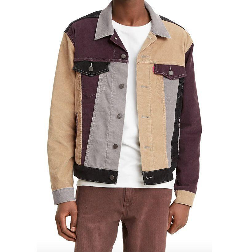 """<p><strong>Levi's</strong></p><p>nordstrom.com</p><p><strong>$118.00</strong></p><p><a href=""""https://go.redirectingat.com?id=74968X1596630&url=https%3A%2F%2Fwww.nordstrom.com%2Fs%2Flevis-colorblock-corduroy-trucker-jacket%2F5714213&sref=https%3A%2F%2Fwww.esquire.com%2Fstyle%2Fmens-fashion%2Fg22107232%2Fcool-jackets-for-men%2F"""" rel=""""nofollow noopener"""" target=""""_blank"""" data-ylk=""""slk:Buy"""" class=""""link rapid-noclick-resp"""">Buy</a></p><p>Patchwork wide-wale corduroy. 'Nuff said. (I repeat: Patchwork. Wide-wale. Corduroy.)</p>"""