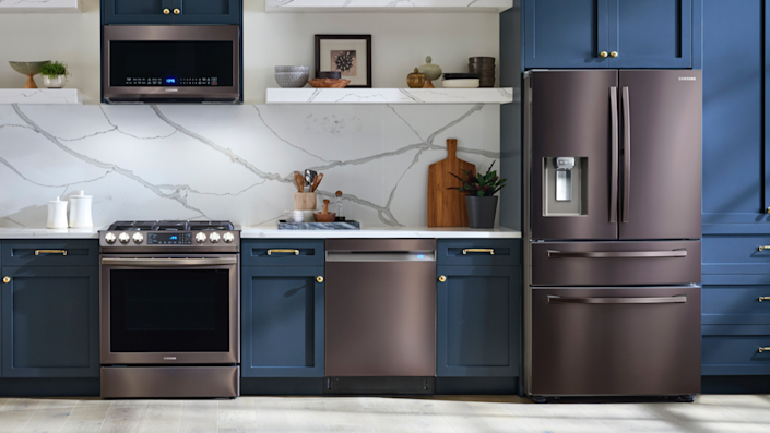 Check out Sears for lots of name brands on appliances.