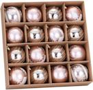 """<p>These <span>Sea Team 80mm/3.15"""" Delicate Painting & Glittering Shatterproof Christmas Ball Ornaments</span> ($20) look traditional – but with an unexpected pop of pink. </p>"""