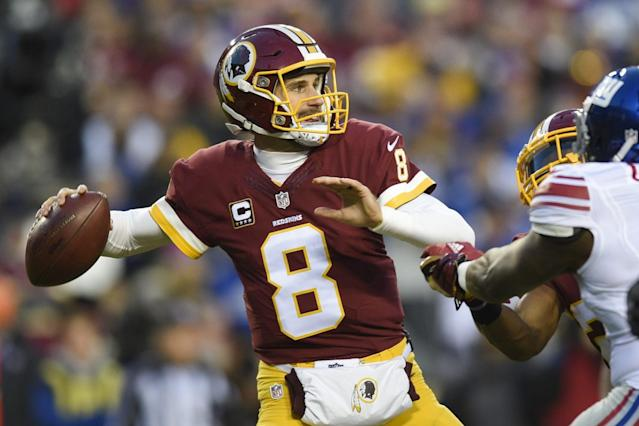 """<a class=""""link rapid-noclick-resp"""" href=""""/nfl/players/25812/"""" data-ylk=""""slk:Kirk Cousins"""">Kirk Cousins</a> could prove to be a bargain in fantasy drafts this season. (AP Photo/Nick Wass, File)"""