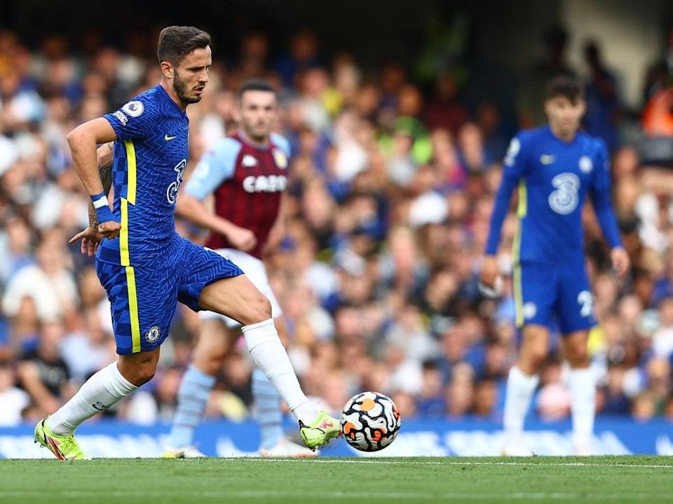 Saul Niguez was substituted at half-time during Chelsea's win over Aston Villa  (AFP via Getty Images)