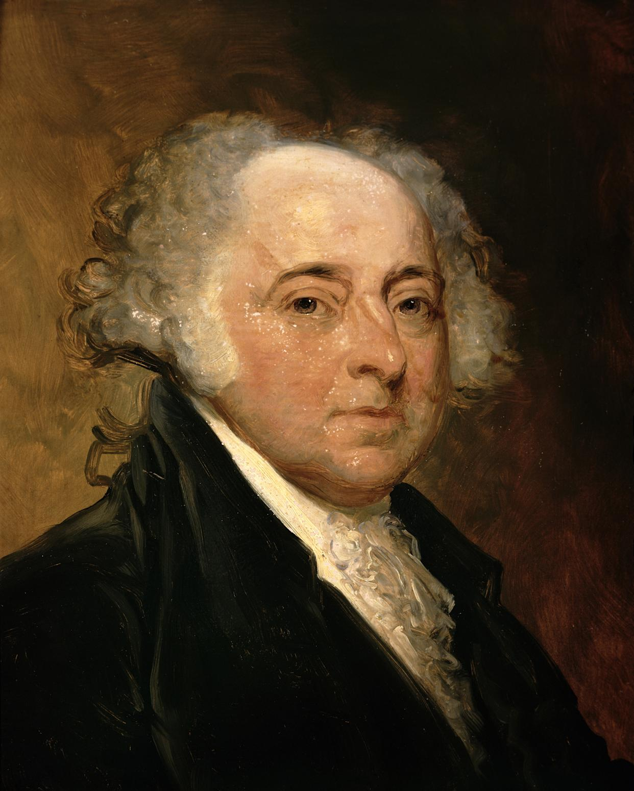 Portrait of John Adams (1735-1826) Second President of the United States of America (1797-1801) (oil on canvas)