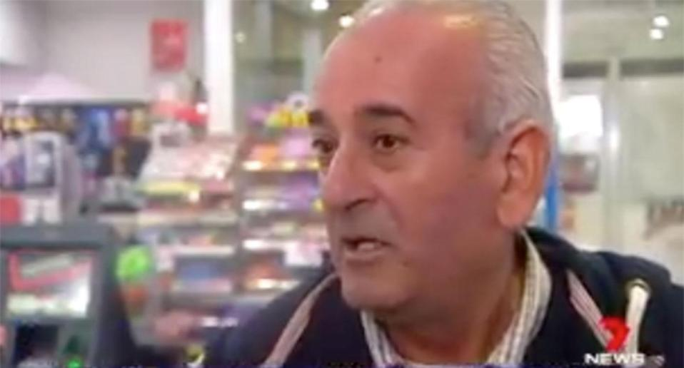 Unperturbed by <span>Friday</span> night's events, Habeb Habeb was back at work <span>Saturday</span> morning. Source: 7 News