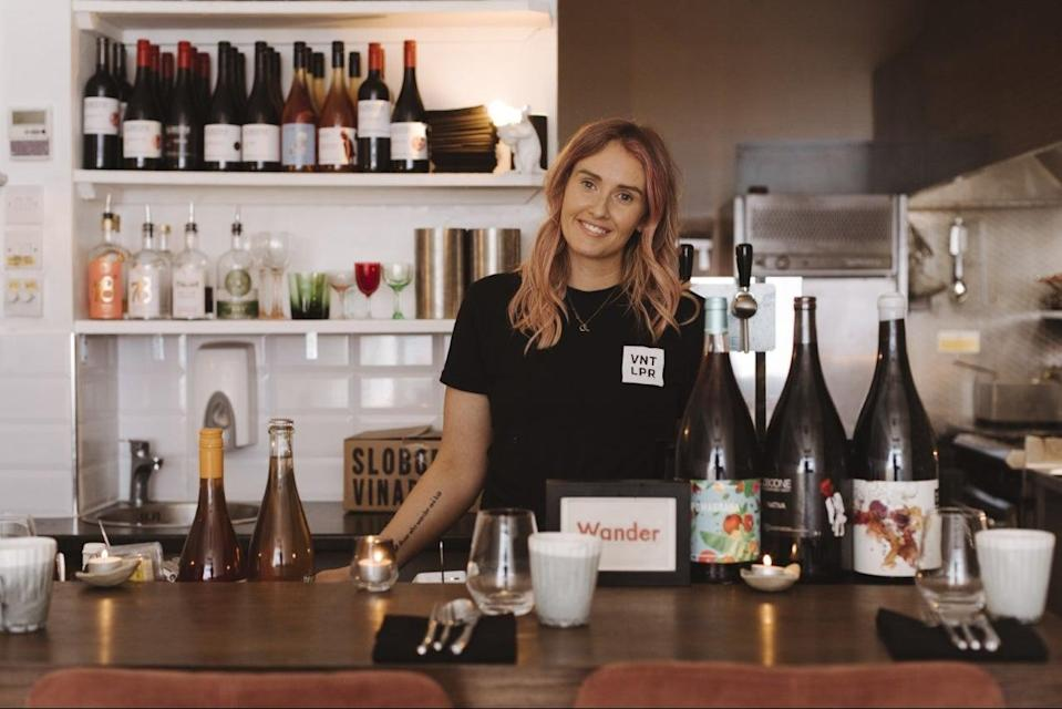 <p>Raising a glass: Wander owner Alexis Noble is set to spend the month saluting women in hospitality</p> (Wander Restaurant )