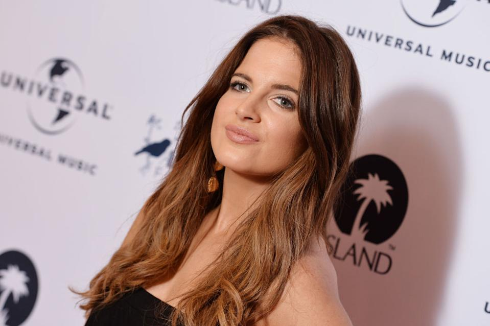 Binky Felstead has revealed she suffered a miscarriage, pictured here in October 2017. (Getty Images)