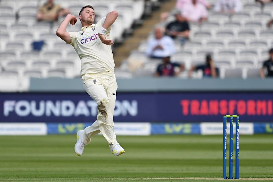 <p>Ollie Robinson bowls for England at Lord's</p> (Getty Images)