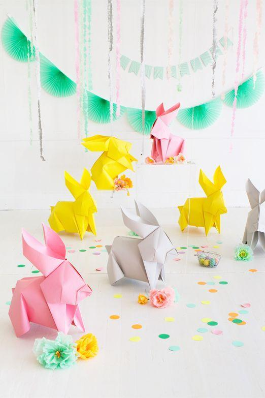 """<p>These large-scale origami bunnies are an adorable decoration to add to your kids' egg hunt.</p><p><em><a href=""""http://ohhappyday.com/2016/03/diy-giant-origami-bunnies/"""" rel=""""nofollow noopener"""" target=""""_blank"""" data-ylk=""""slk:Get the tutorial at Oh Happy Day »"""" class=""""link rapid-noclick-resp"""">Get the tutorial at Oh Happy Day »</a></em></p><p><a class=""""link rapid-noclick-resp"""" href=""""https://www.amazon.com/Savage-SV-53X12-51-Seamless-Background-53-Inch/dp/B000B75VM4?tag=syn-yahoo-20&ascsubtag=%5Bartid%7C10055.g.2217%5Bsrc%7Cyahoo-us"""" rel=""""nofollow noopener"""" target=""""_blank"""" data-ylk=""""slk:BUY BACKDROP PAPER"""">BUY BACKDROP PAPER</a><br></p>"""