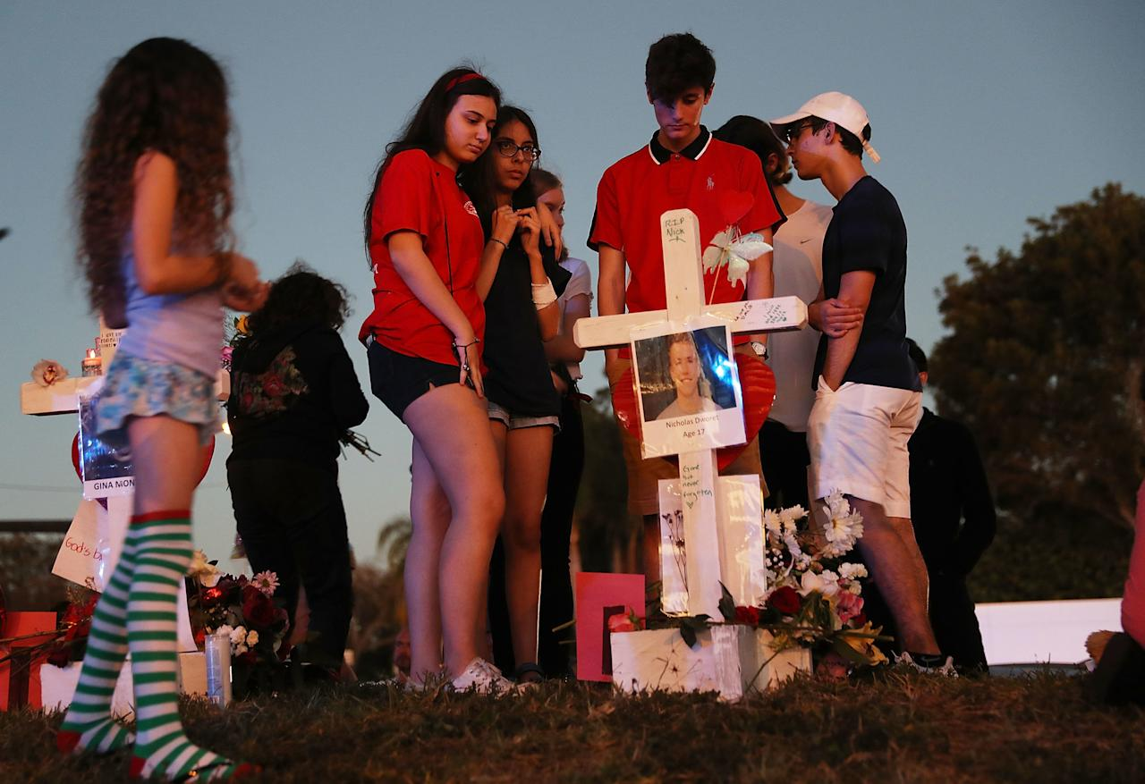 "After 17 adults and students in Parkland, Florida, were killed at a high school on Feb. 14, President Donald Trump pledged ""to help secure our schools, and tackle the difficult issue of mental health."""