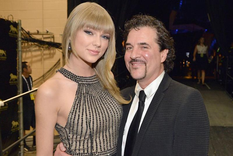 Taylor Swift, Scott Borchetta | Rick Diamond/Getty Images