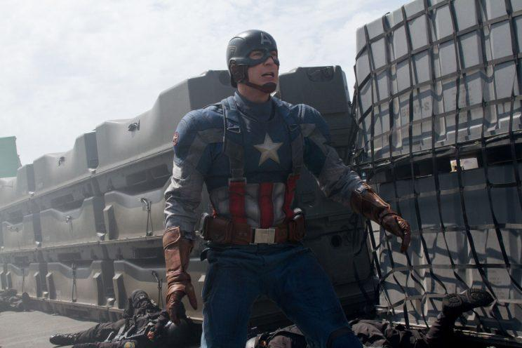 Evans... will be back for the fourth Avengers movie - Credit: Marvel/Disney