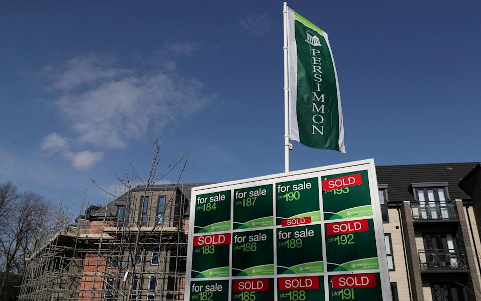 Persimmon signage is seen at a building site in Durham, Britain - LEE SMITH/Reuters