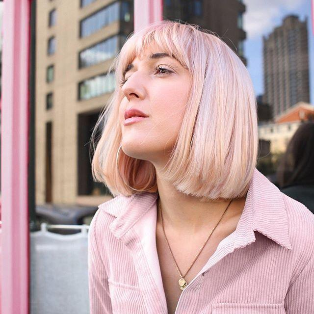 """<p>Here's the same idea on blonde hair: barely-there pink.</p><p><a href=""""https://www.instagram.com/p/B-fo9dvgk03/?utm_source=ig_embed&utm_campaign=loading"""" rel=""""nofollow noopener"""" target=""""_blank"""" data-ylk=""""slk:See the original post on Instagram"""" class=""""link rapid-noclick-resp"""">See the original post on Instagram</a></p>"""
