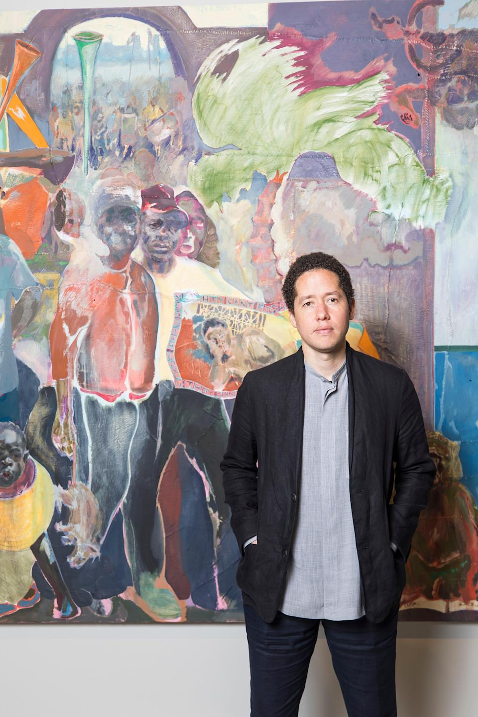 Michael Armitage with one of his works (Anna Kucera)