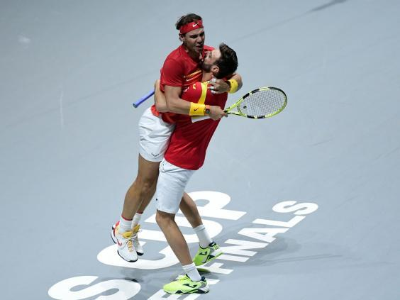 Great Britain will take on Spain in the semi-finals after Rafael Nadal and Co beat Argentina (Getty)