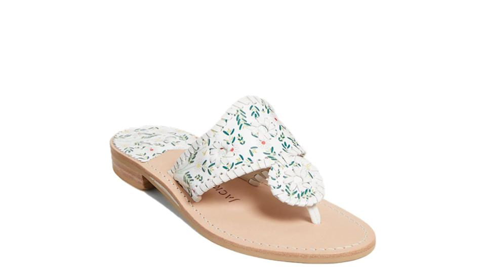 These floral embroidered slides are the perfect summer pair.