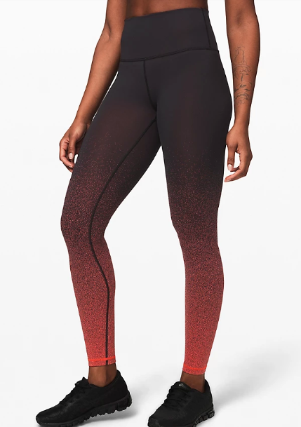 """Wunder Under High-Rise Tight 28"""" Full-On Luon in ombre speckle"""