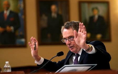 Lighthizer testifies on Capitol Hill in Washington