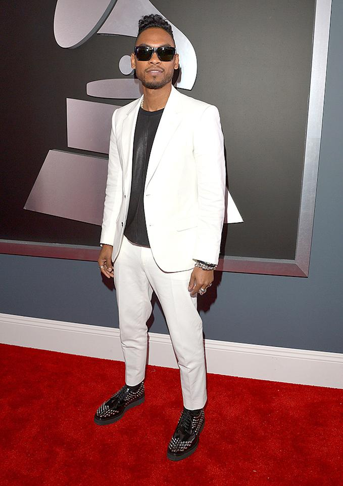 LOS ANGELES, CA - FEBRUARY 10:  Singer Miguel Jontel Pimentel attends the 55th Annual GRAMMY Awards at STAPLES Center on February 10, 2013 in Los Angeles, California.  (Photo by Lester Cohen/WireImage)
