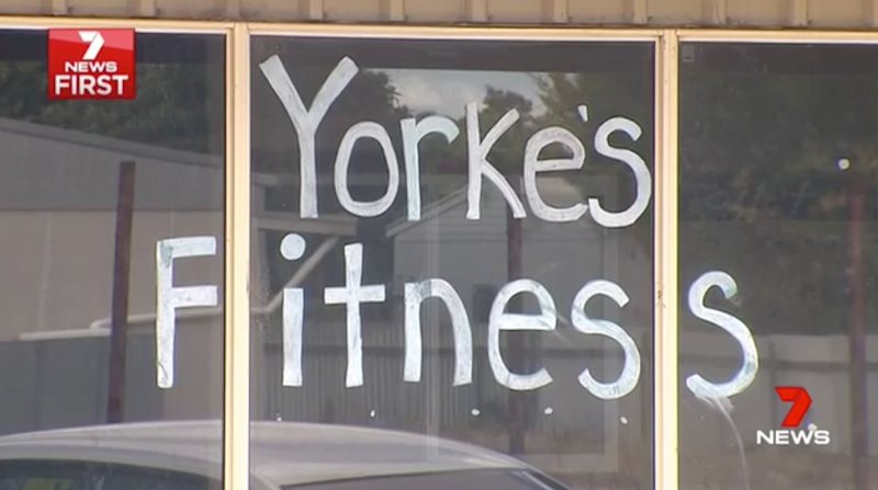 The gym allegedly owned by Sainsbury. Photo: 7 News.