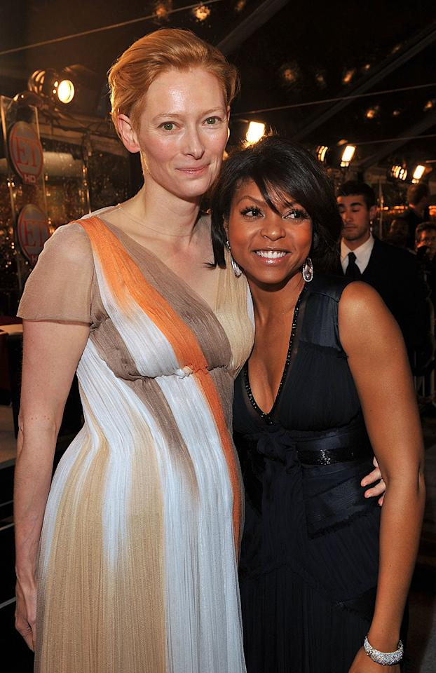 """<a href=""""http://movies.yahoo.com/movie/contributor/1800021028"""">Tilda Swinton</a> and <a href=""""http://movies.yahoo.com/movie/contributor/1804514499"""">Taraji P. Henson</a> at the Los Angeles premiere of <a href=""""http://movies.yahoo.com/movie/1809785152/info"""">The Curious Case of Benjamin Button</a> - 12/08/2008"""