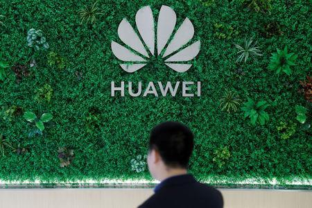 The Logo of Huawei is seen at its showroom in Shenzhen, Guangdong province, China March 29, 2019. REUTERS/Tyrone Siu