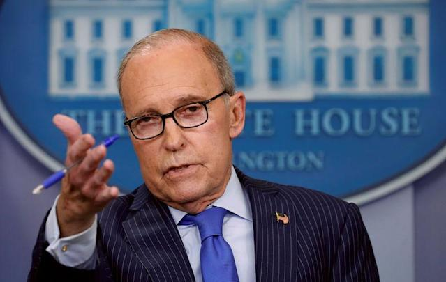 NEC Director Larry Kudlow says President Trump is 'doing exactly the right thing' on trade. (REUTERS/Kevin Lamarque)
