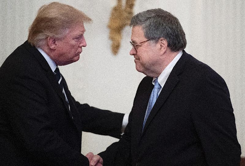 President Donald Trump has authorized Attorney General William Barr to investigate those who investigated his campaign's ties to Russia ahead of the 2016 election (AFP Photo/Jim WATSON)