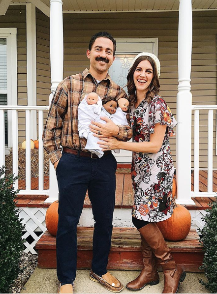 """<p>Make all of the party-goers swoon by showing up as one of TV's most-loved dads, and well, men. To really commit to the costume, carry around three dolls that resemble the Big Three from <em><a href=""""https://www.amazon.com/This-is-Us-Season-3/dp/B07GV8DL87?tag=syn-yahoo-20&ascsubtag=%5Bartid%7C10055.g.28089320%5Bsrc%7Cyahoo-us"""" rel=""""nofollow noopener"""" target=""""_blank"""" data-ylk=""""slk:This Is Us"""" class=""""link rapid-noclick-resp"""">This Is Us</a></em>. </p><p><a class=""""link rapid-noclick-resp"""" href=""""https://www.amazon.com/Mustaches-Adhesive-Novelty-Policeman-Lustrous/dp/B01MRFPSQ6/?tag=syn-yahoo-20&ascsubtag=%5Bartid%7C10055.g.28089320%5Bsrc%7Cyahoo-us"""" rel=""""nofollow noopener"""" target=""""_blank"""" data-ylk=""""slk:SHOP FAKE MUSTACHES"""">SHOP FAKE MUSTACHES</a> </p><p><em><a href=""""https://www.instagram.com/p/BpdOe6oBO3-/?"""" rel=""""nofollow noopener"""" target=""""_blank"""" data-ylk=""""slk:See more at Kelsey McMurtrey »"""" class=""""link rapid-noclick-resp"""">See more at Kelsey McMurtrey » </a></em></p>"""