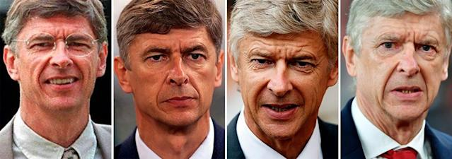 <span>The changing face of Wenger at Arsenal.</span> <span>Photograph: Gabriel Bouys/AFP/Getty Images</span>