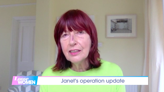 Janet Street-Porter had an operation last week after being diagnosed with skin cancer. (ITV)