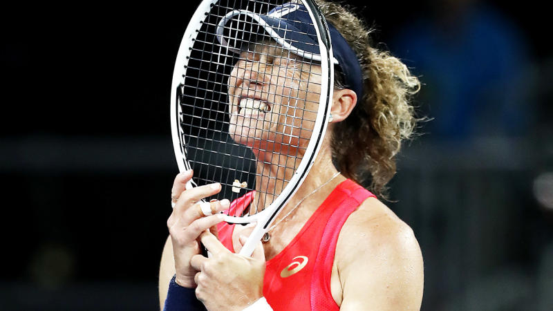 Sam Stosur, pictured here during her loss at the Australian Open.