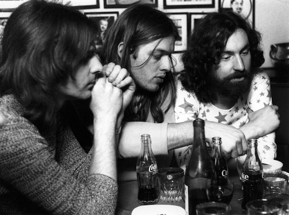 <p>Rick Wright, David Gilmour, and Nick Mason of Pink Floyd backstage in Germany, doing interview on November 14, 1970.</p>