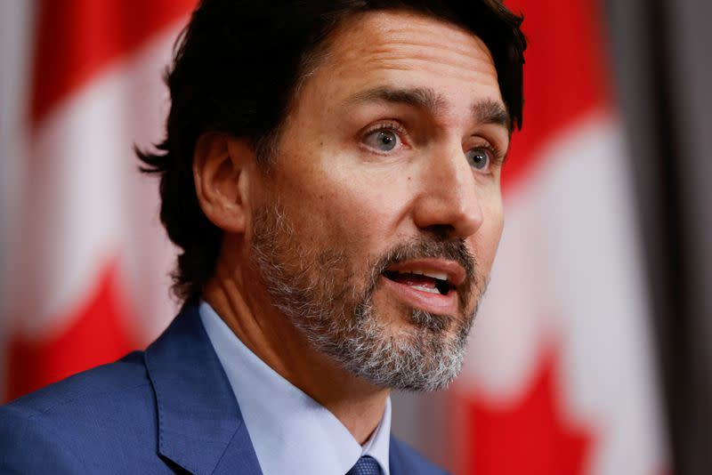 Canada's Trudeau wishes 'get well soon' to U.S. President Trump and wife