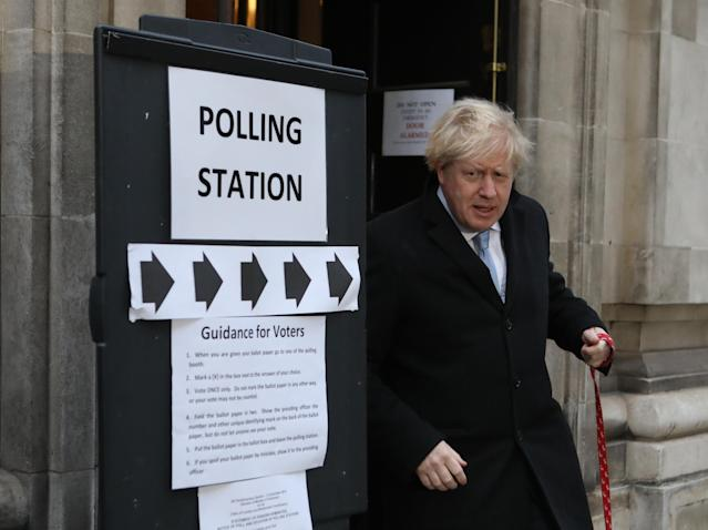 Prime Minister Boris Johnson is on course for a big majority. (PA Images)