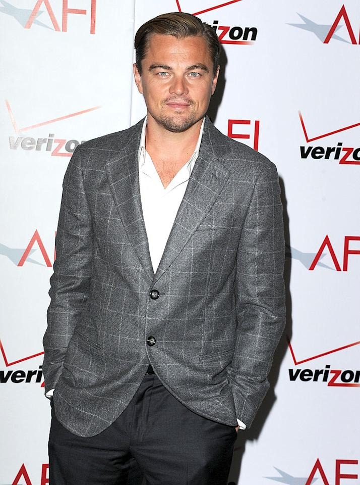 BEVERLY HILLS, CA - JANUARY 13:  Leonardo DiCaprio attends the AFI Awards 2011 at Four Seasons Hotel Los Angeles at Beverly Hills on January 13, 2012 in Beverly Hills, California.  (Photo by Steve Granitz/WireImage)