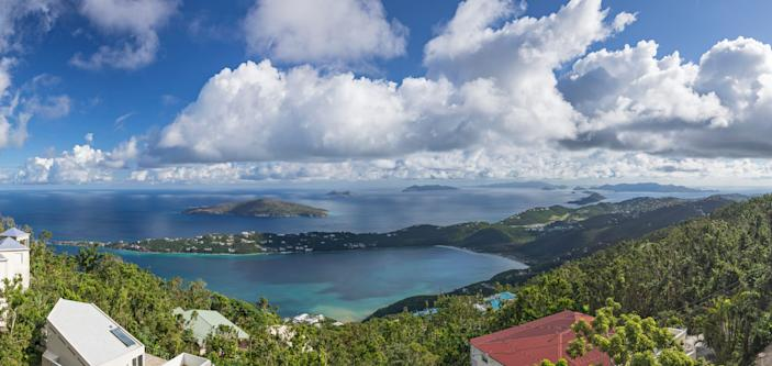 Magens Bay in St. Thomas is home to a large white sandy beach ideal for swimming and water sports.