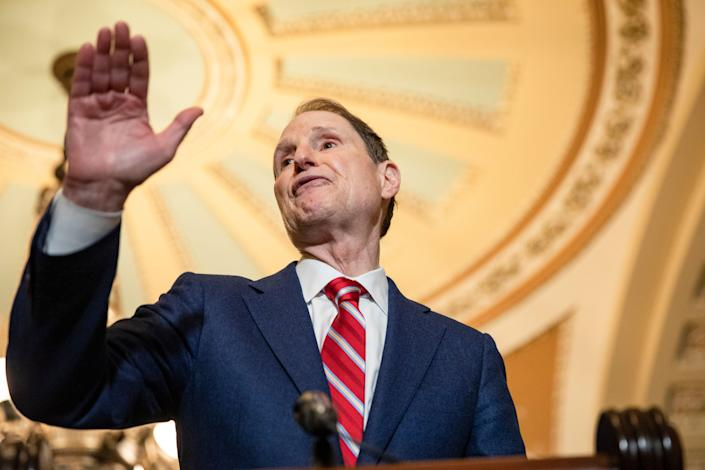 Sen. Ron Wyden (D-Ore.), the top Democrat on the Senate Finance Committee, which oversees unemployment insurance, complained about the U.S. Labor Department's guidelines for expanded unemployment benefits. (Photo by Samuel Corum/Getty Images) (Photo: Samuel Corum via Getty Images)