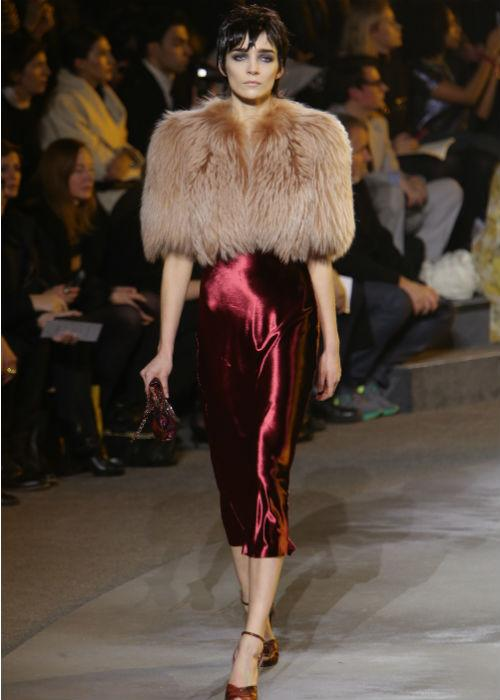 <p><strong>Fur: </strong> Fox fur collars, vests and wraps are the latest fashion statements. Here a model walks the runway at the Marc Jacobs Fall 2013 fashion show during Mercedes-Benz Fashion Week at <br />New York State Armory on February 14, 2013 in New York City.</p>