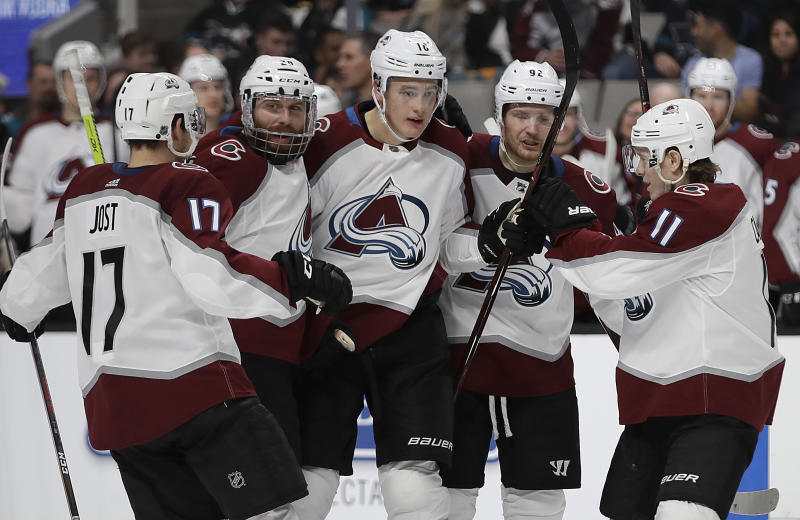 Sorensen's 2 goals lead Sharks past Avalanche 4-3