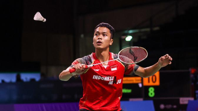 Tunggal putra Indonesia Anthony Sinisuka Ginting. (foto: BWF-limited acces)
