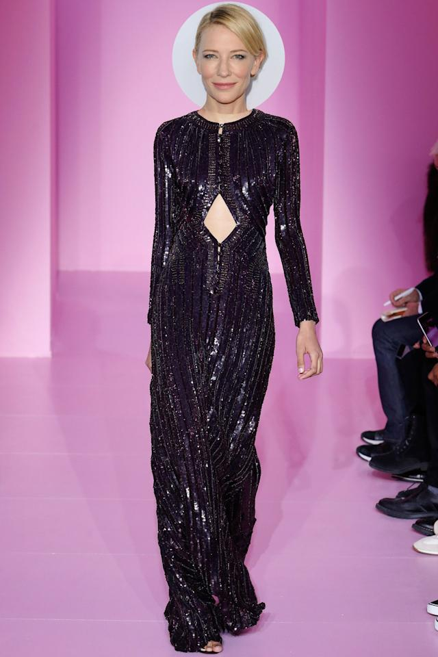 <p>The <i>Carol </i>actress has worn Givenchy countless times on the red carpet, so we wouldn't be surprised if she shows up Sunday in this purple sequined piece from the brand's spring 2016 couture collection.</p>