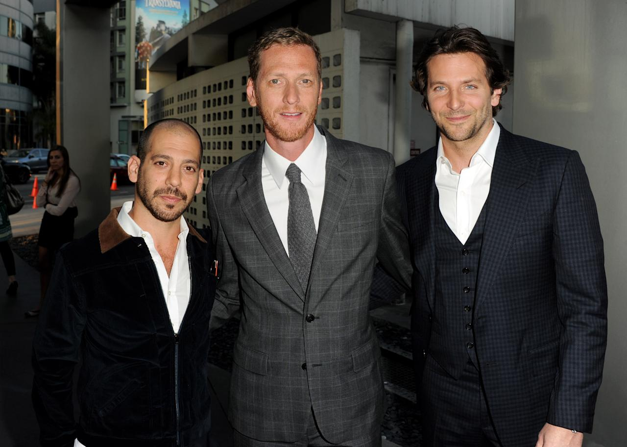 """LOS ANGELES, CA - SEPTEMBER 04:  (L-R) Co-directors Lee Sternthal, Brain Klugman and actor Bradley Cooper arrive at the premiere of CBS Films' """"The Words"""" at the Arclight Theatre on September 4, 2012 in Los Angeles, California.  (Photo by Kevin Winter/Getty Images)"""
