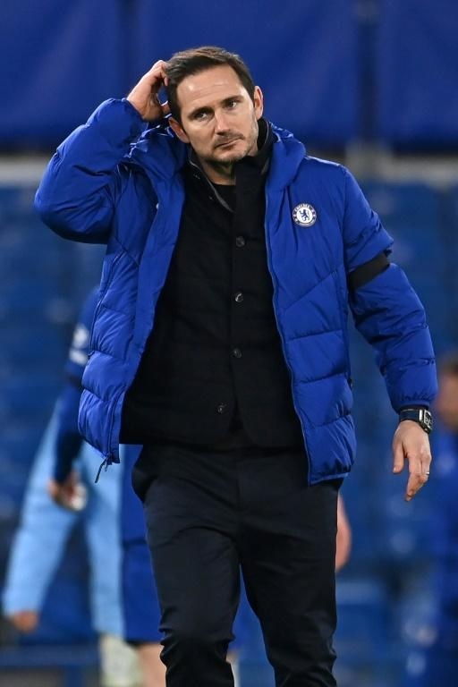 Pain game: Chelsea coach Frank Lampard reacts to defeat against Manchester City at Stamford Bridge