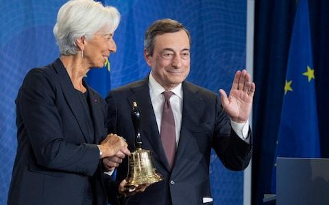 Draghi Lagarde - Credit: Boris Roessler