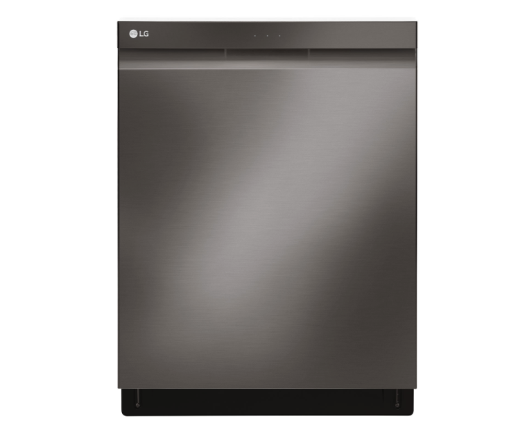 "LG 24"" 44dB Built-In Dishwasher with Stainless Steel Tub & Third Rack. Image via Best Buy."